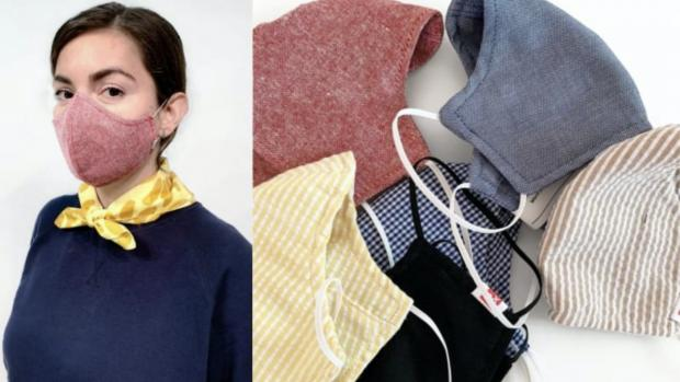 The Mail: The tightly woven fabric masks are a great option. Credit: HEDLEY AND BENNETT