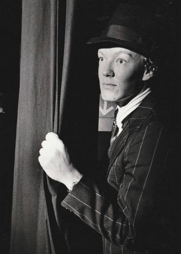The Mail: ACT: The Mail reporter Ellis Butcher about to make his entrance in Guys and Dolls on the opening night in 1994