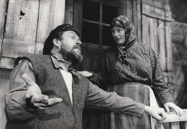 The Mail: David Marcus as Tevye and Maggie Hook as Golde in Fiddler on the Roof in 1995