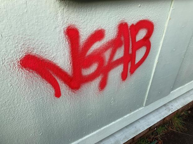 The Mail: VANDALISM: Graffiti at North Scale Community Centre