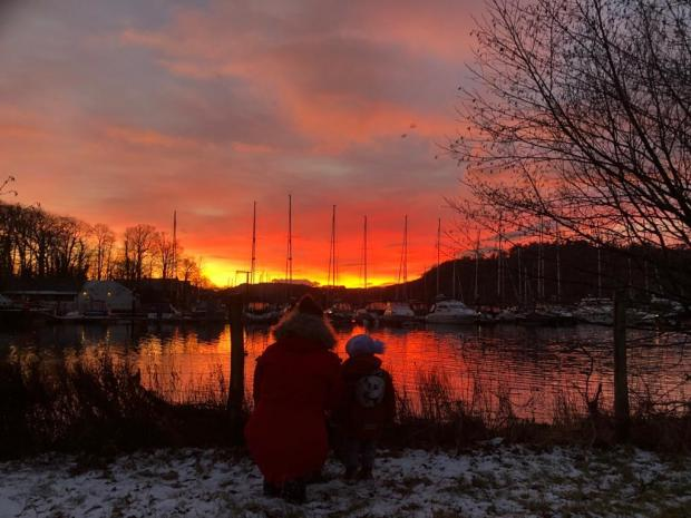 The Mail: GLOW: A picture of the sunset over Bowness taken by The Mail Camera Club member Dawn Handley