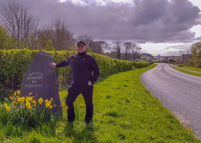 CAMPAIGN: Councillor Matt Brereton by the A595 in Chapels