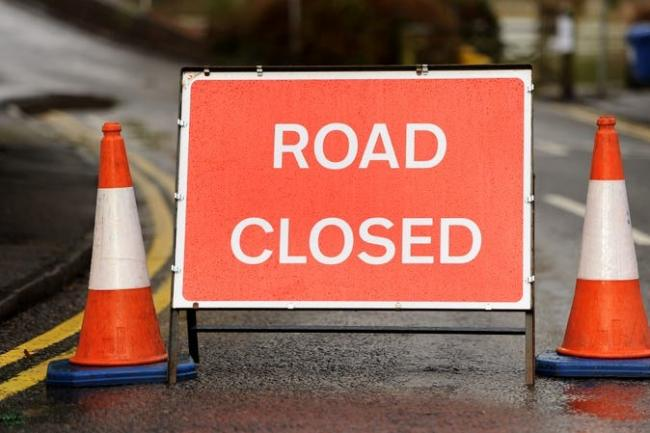Urgent road closure in place today for several hours