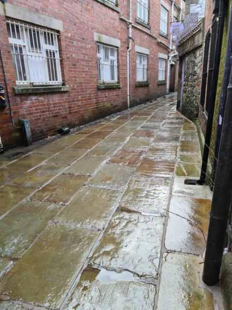 CLEAN: The town centre ginnels in Ulverston have been cleaned