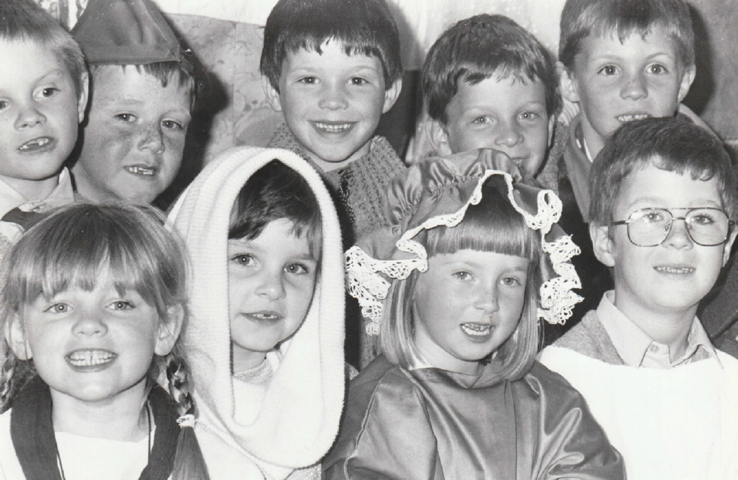 CENTRE STAGE: Pupils of Chapel Street Infants School at Dalton dressed for their role in the towns 750th charter celebrations