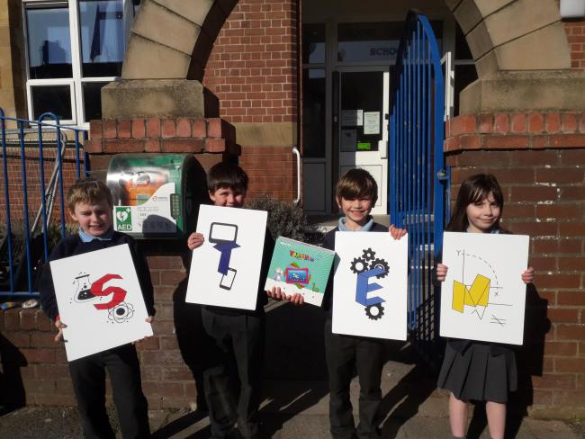JOY: Roose Primary School pupils celebrate the boost