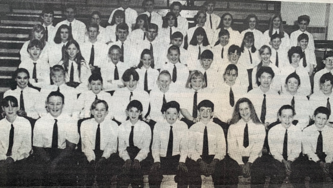 WINNERS: Some of the award winners at Thorncliffe School in 1994