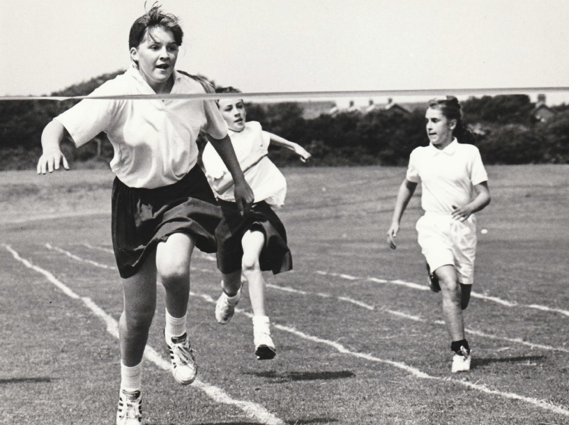 SPORT: Kelsie Brownlie dashes to victory in the girls' Year 7 200m race at Thorncliffe School's sports day in 1993