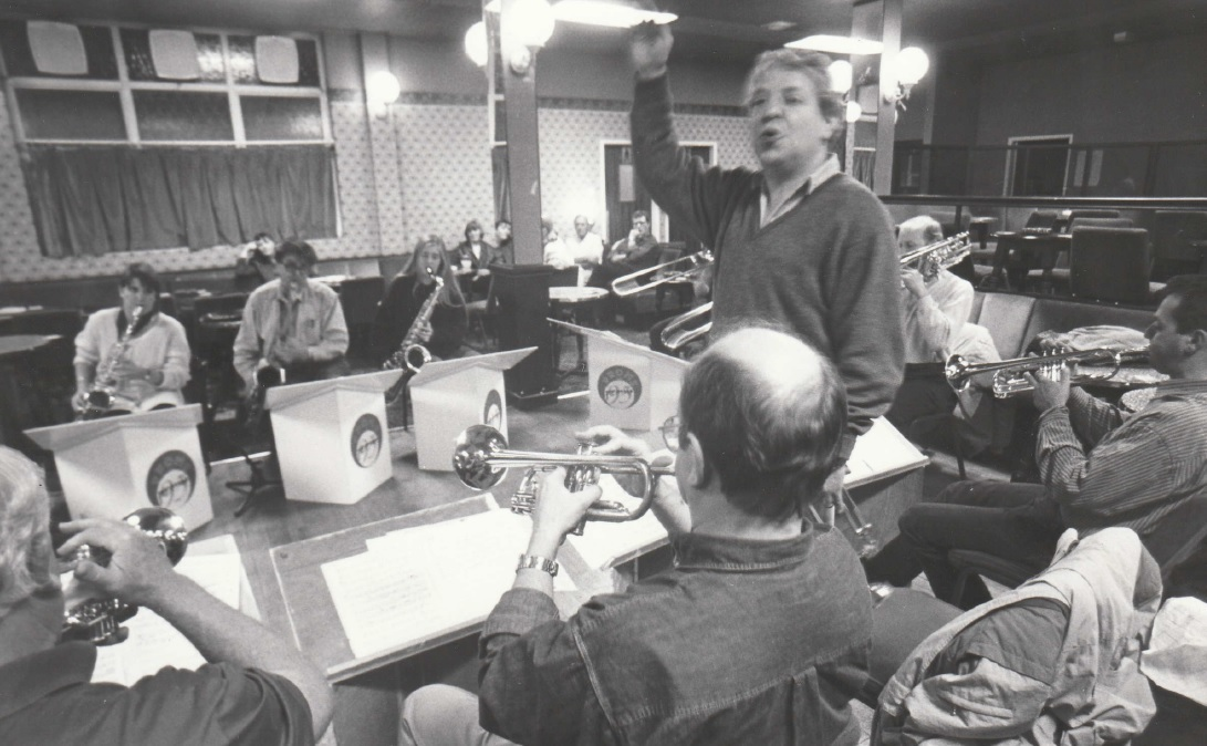 CONDUCT: Rehearsals for the Barrow Pop Proms in 1994