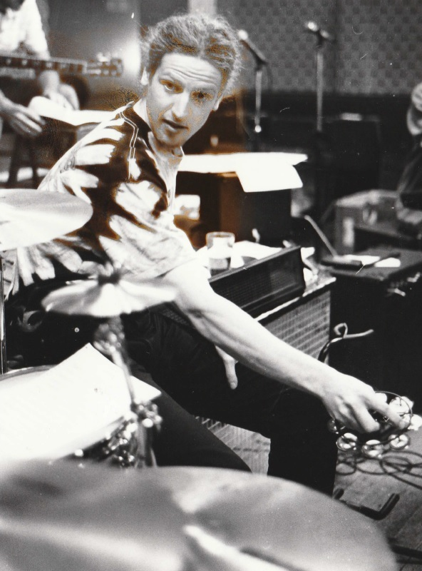 MUSICIAN: Percussionist Paul Brown rehearsing for the Barrow Pop Proms in 1994