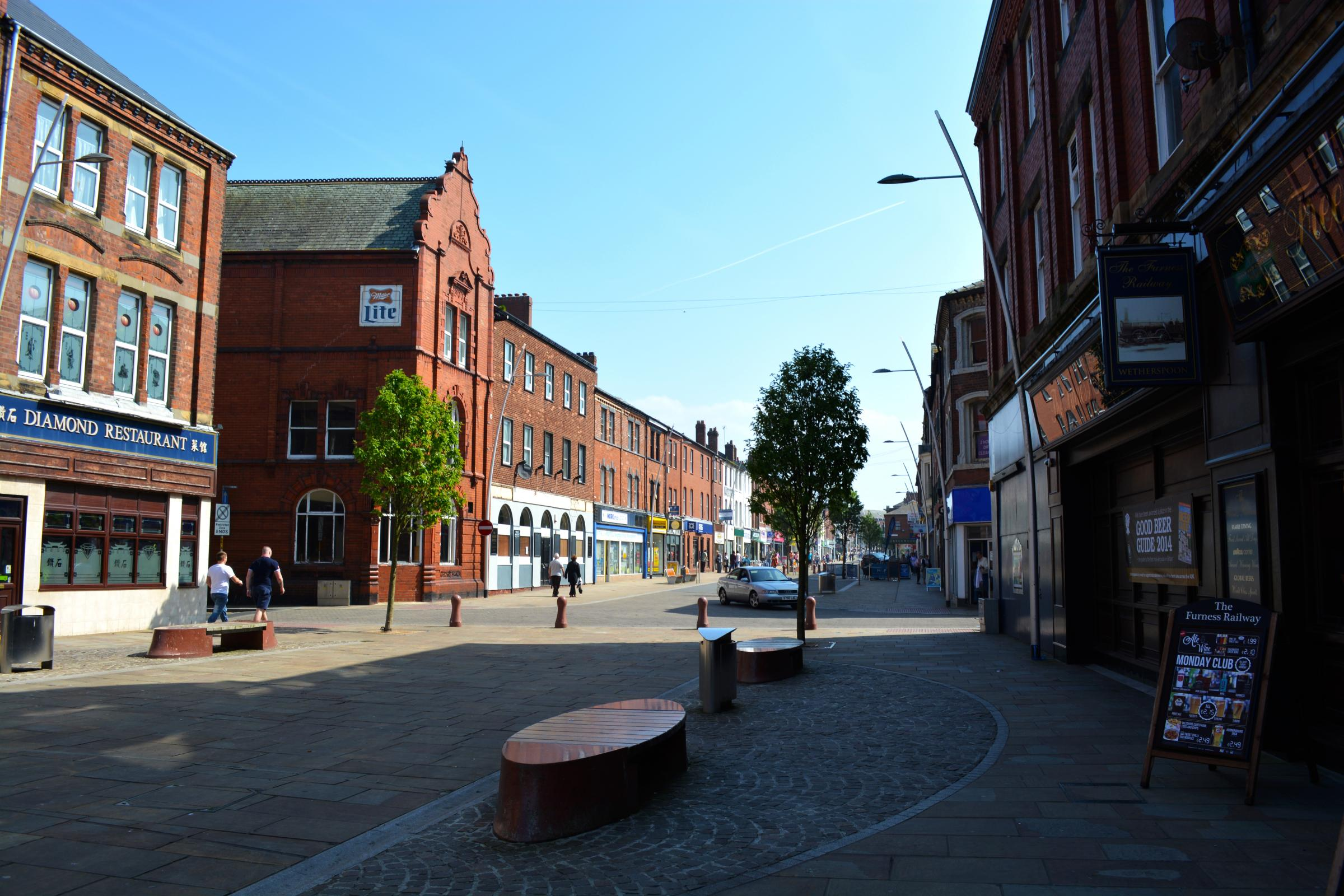 Barrow town centre (credit Cumbria Tourism)