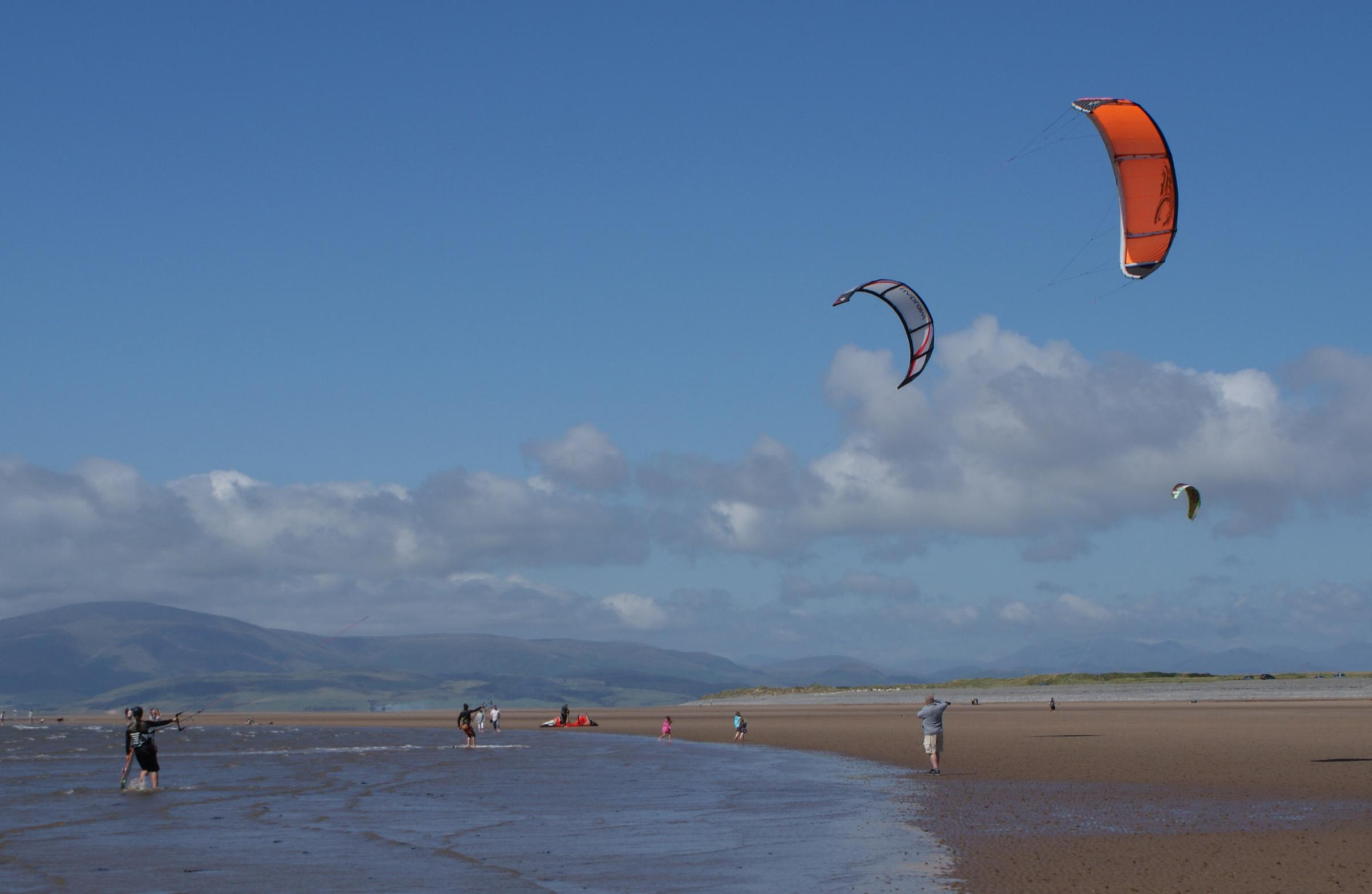Windsurfers off South Walney (credit Barrow Borough Council)