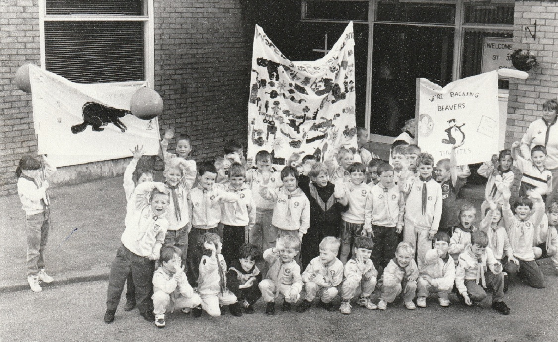 SCOUTS: Millom District Beaver Scouts celebrating the tenth anniversary of Beaver Scouts in 1996