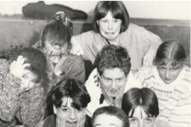 CAST: Members of Barrow Youth Theatre during rehearsals for A Night on the Box in 1995