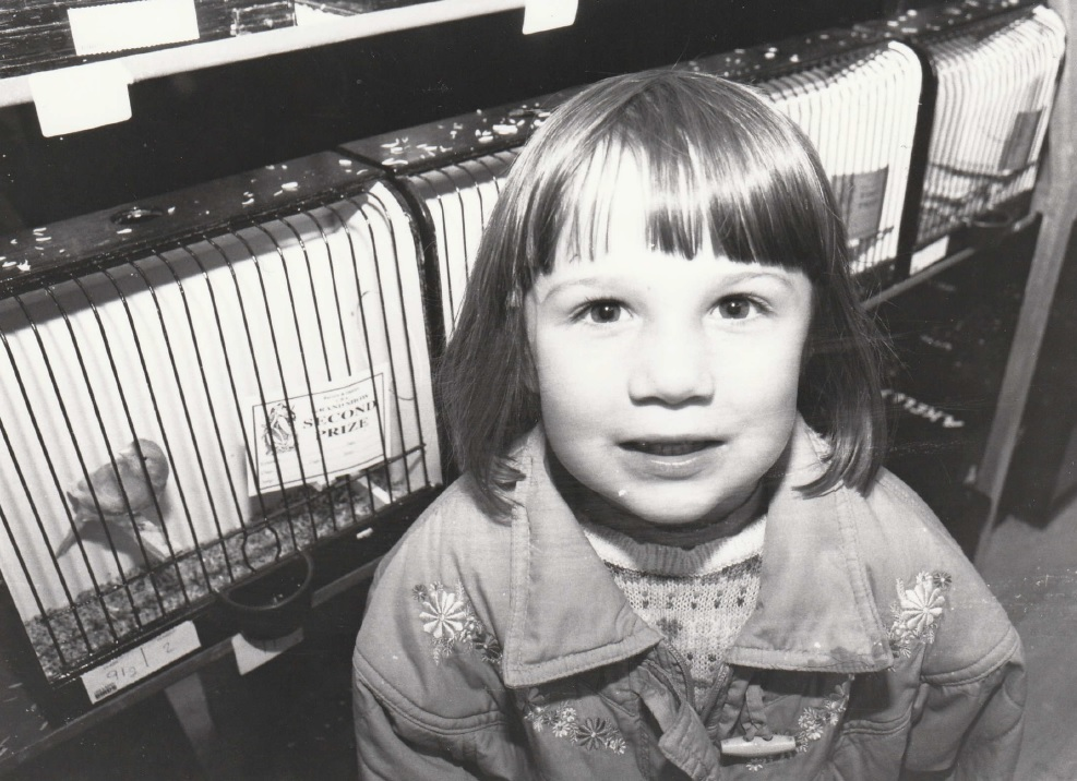 SHOW: Katie Chadwick, four, from Daltron, who went along to the show in 1996 with her mum to admire the birds