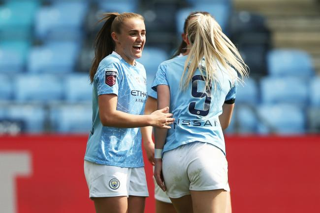 Manchester City's Georgia Stanway (left)