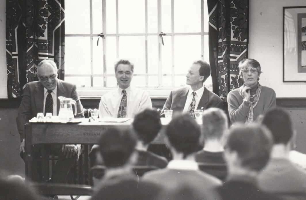 QUESTIONS: The panel on stage during the 'Question Time' session in 1994