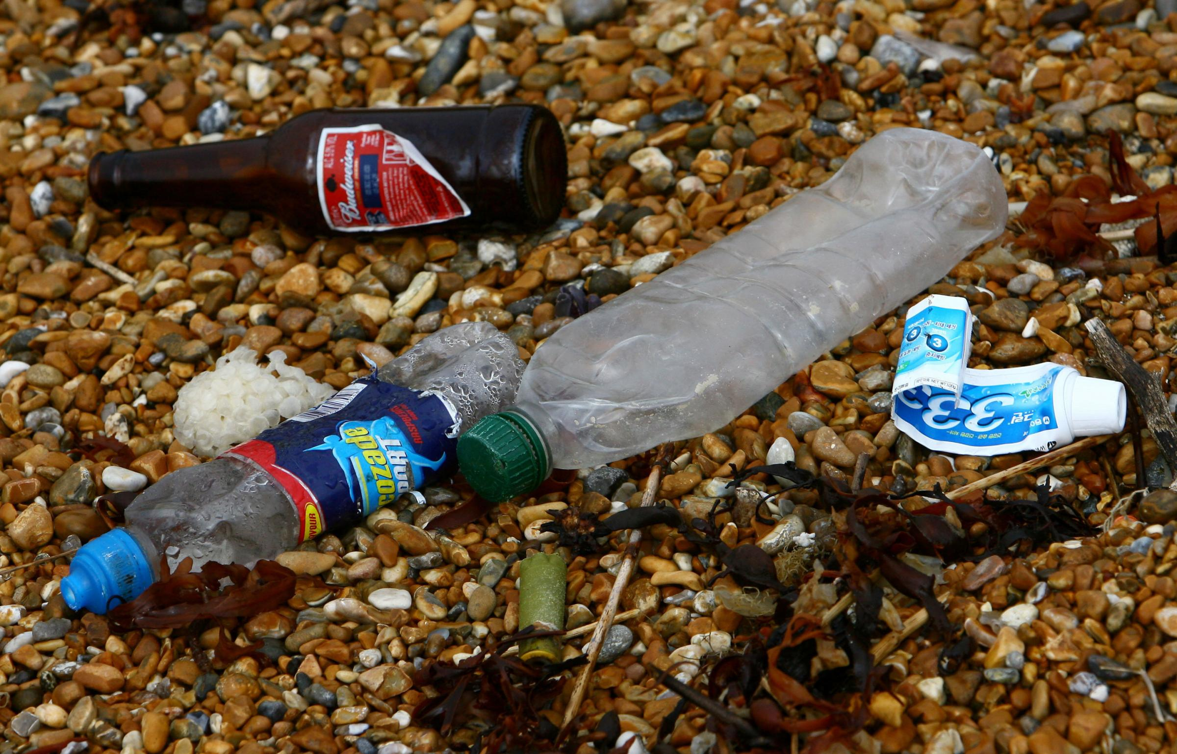 File photo dated 08/04/09 of rubbish left on a beach, as members of the public are being urged to help with efforts to clean Britain's beaches of plastic waste and other litter, from the comfort of their sofas. PRESS ASSOCIATION Photo. Issue date: Fri