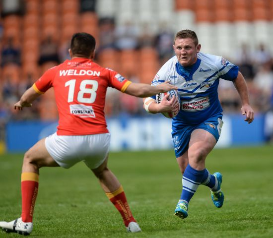 Try-scorer: Jono Smith lines up for Barrow Raiders against former club Rochdale Hornets