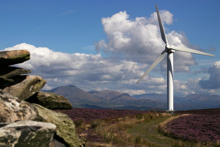 ENERGY: Wind turbines at Krikby Moor