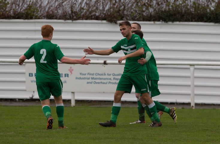 In the goals: Holker's John Paul Stanway CHRIS WEST