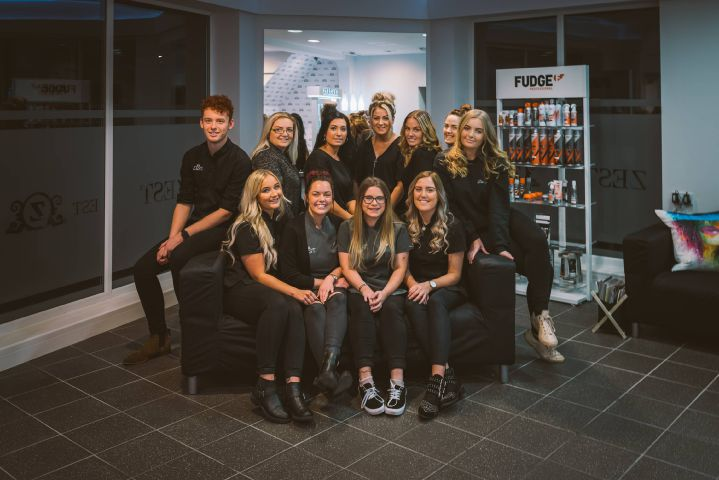 Rebecca McIlgorm (second from right of back row) along with her colleagues at Zest