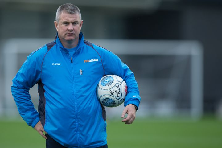 The job's yours: Micky Moore has signed a two-and-a-half-year contract as Barrow AFC manager JAMES WILLIAMSON