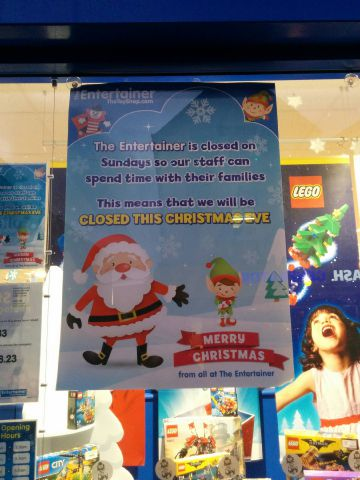 The Entertainer Will Not Open On Christmas Eve Declares Devout