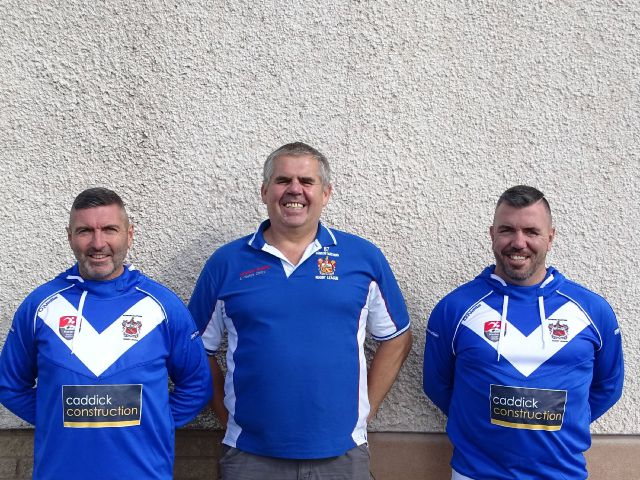 Pioneer spirit: Left to right: Ian O'Neill, Shaun McPoland and Ian McAllister are set to represent GB Masters against New Zealand submitted