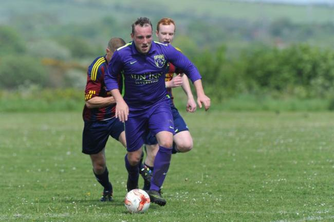 DOUBLE: Matt Dean scored twice for Croftlands Park in their win over Britannia