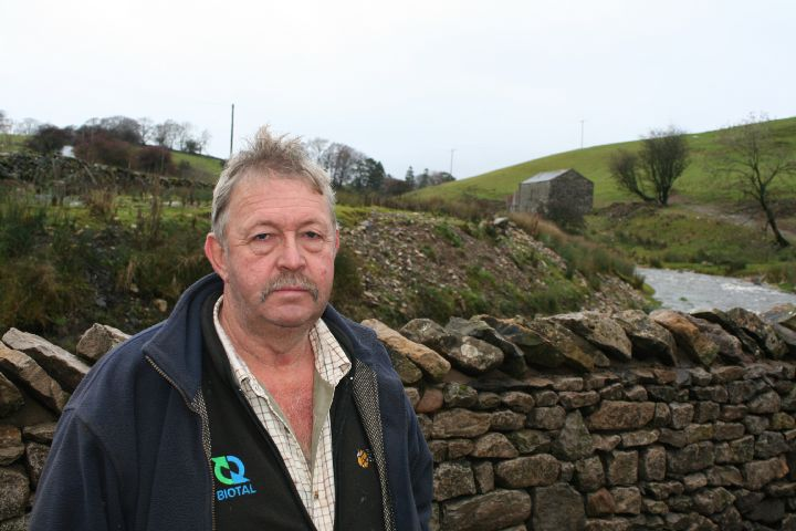RECOVERY: Cumbrian farmer Steve Dunning was one of many affected by Storm Desmond