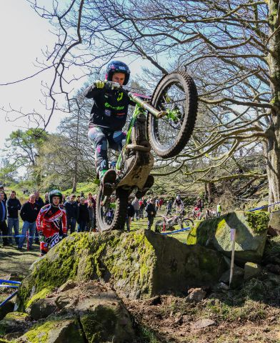 Winner James Dabill in action in the British Trial Bike Championships at Fell Green, Bootle STEPHEN LEECE