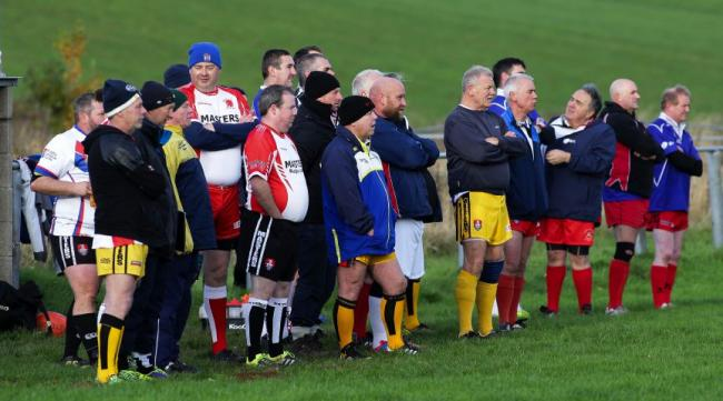 FULL OF EXPERIENCE Players watch from the sidelines during an RL Masters event at Roose in November MILTON HAWORTH