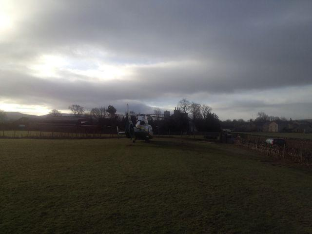 The Great North Air Ambulance attending the scene in Kirkby Stephen. SUBMITTED