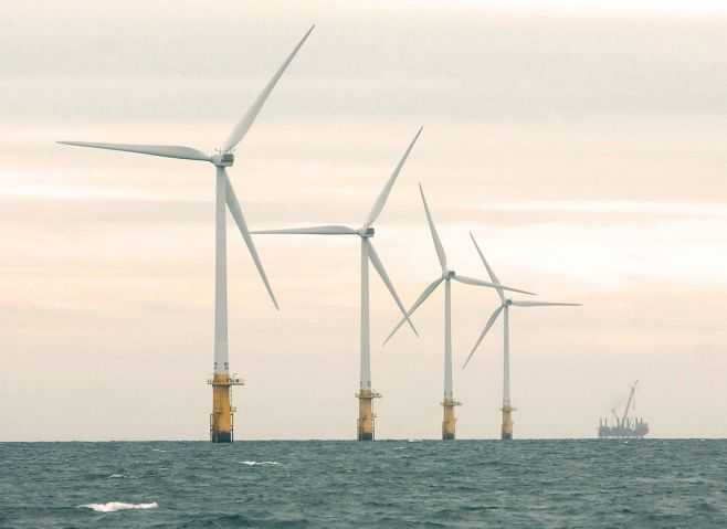 Walney windfarm: Walney Extension Offshore windfarm is set to be located next to the existing site. RILEY