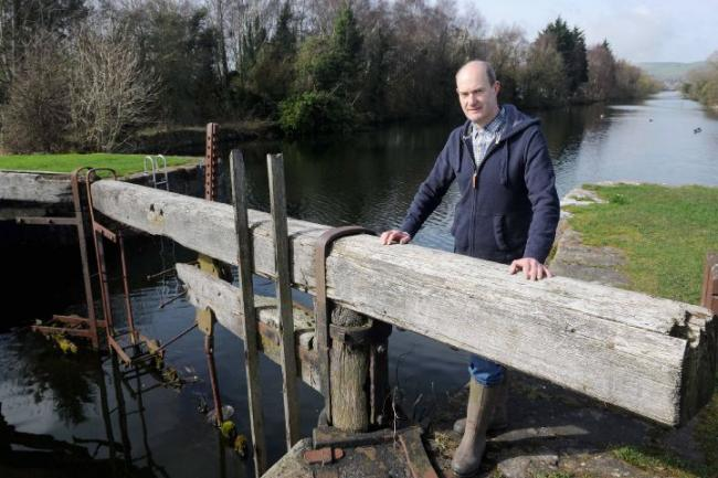 Chairman of The Friends of Ulverston Canal group, Colin Smith pictured at Canal Foot, Ulverston