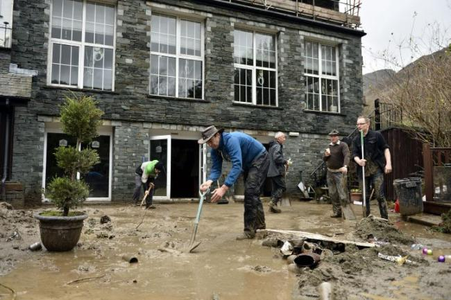 Flood Chaos Returns To Cumbria As River Overtops The Mail