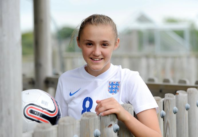 GOALSCORING SENSATION Georgia Stanway, pictured after being selected for England under-17s, has netted her first goal for Manchester City Women HARRY ATKINSON
