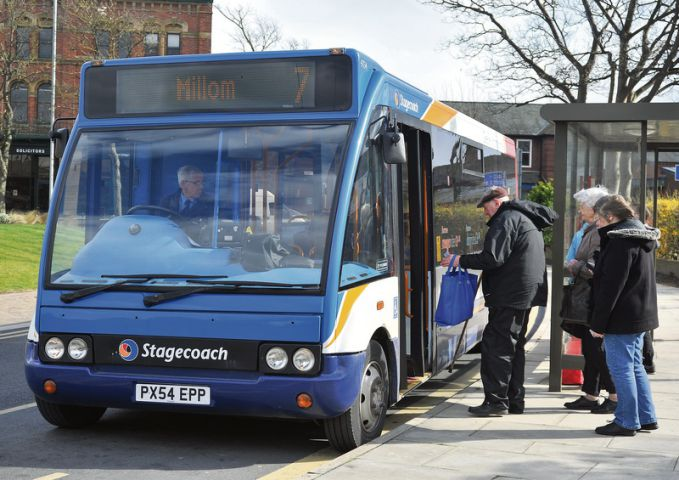 Slimmed Down The No 7 Stagecoach Bus Service To Millom From Barrow Is Among The Services