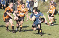 MOVING ON: Tom Spedding in action for Ulverston in the winter seasons they are leaving behind