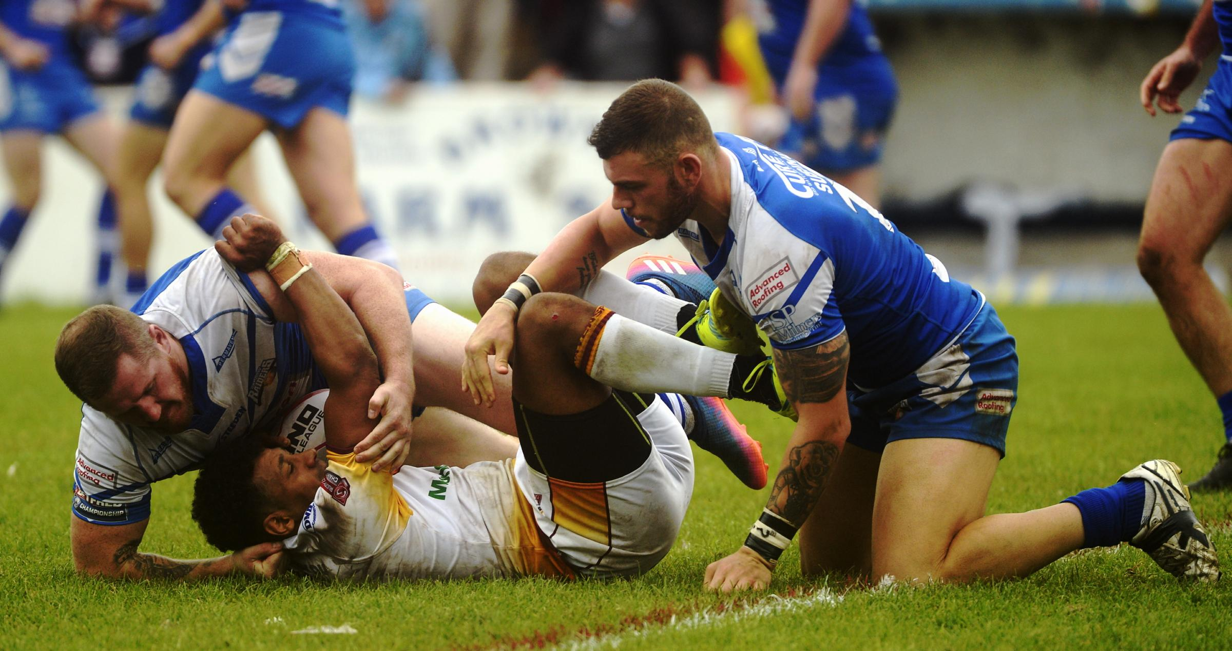 Tough: The Betfred Championship has been a harsh place at times for Barrow Raiders following promotion 		Picture: Jon Granger
