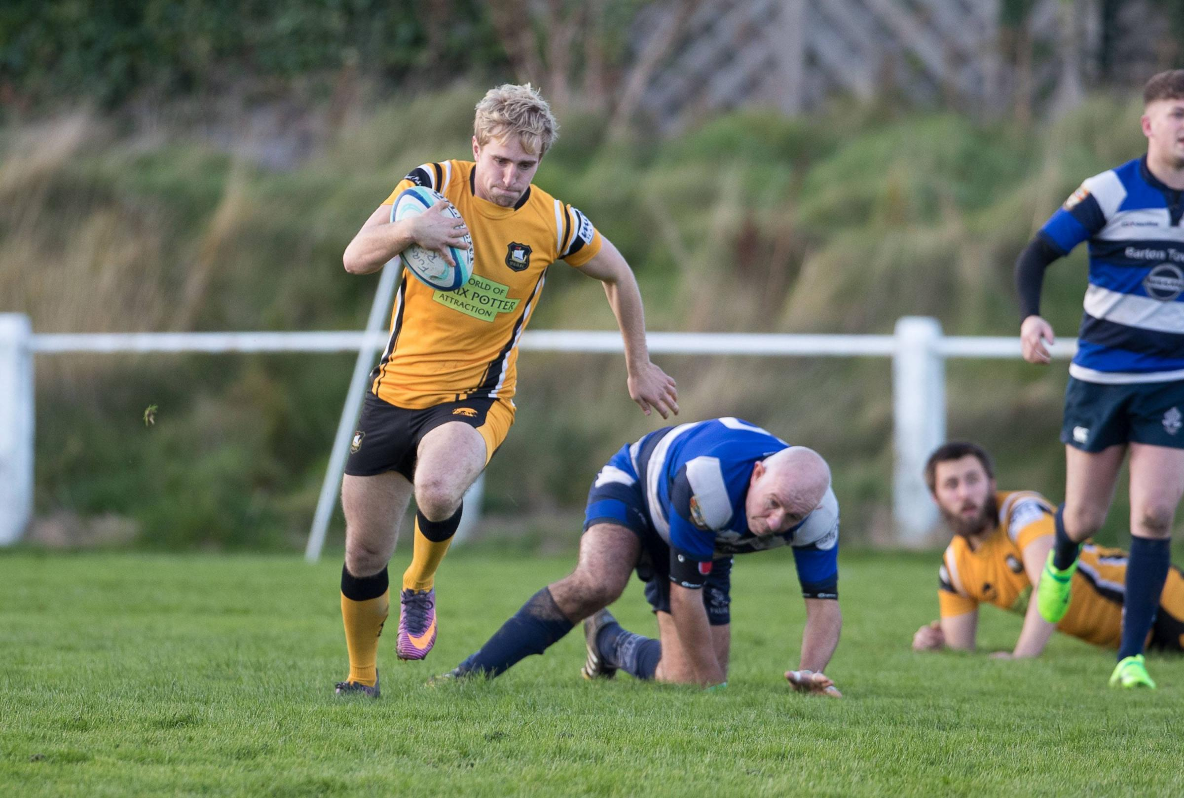FURNESS V WINDERMERE RUGBY UNION. Strawberry Grounds, Barrow. Windermere's Bertie Hodgson. 4th November 2017. CHRIS WEST.