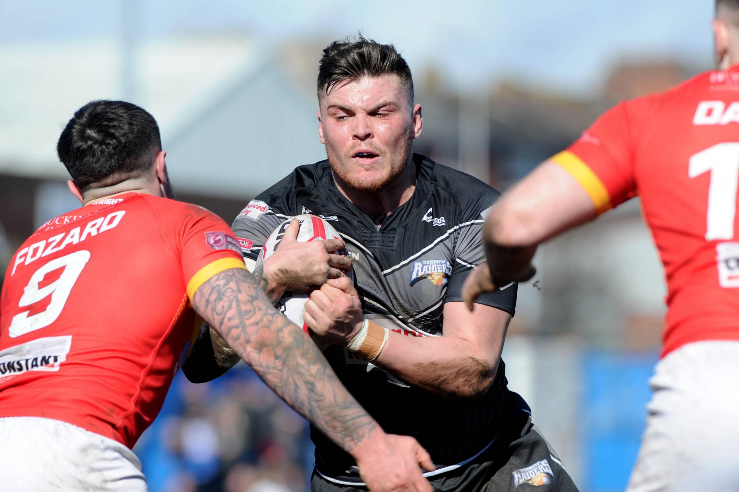 BARROW RAIDERS V SHEFFIELD EAGLES   Barrow Raiders vSheffield Eagles Pictured: Tom Walker, Craven Park, Barrow, Sunday 25th March 2018 LEANNE BOLGER