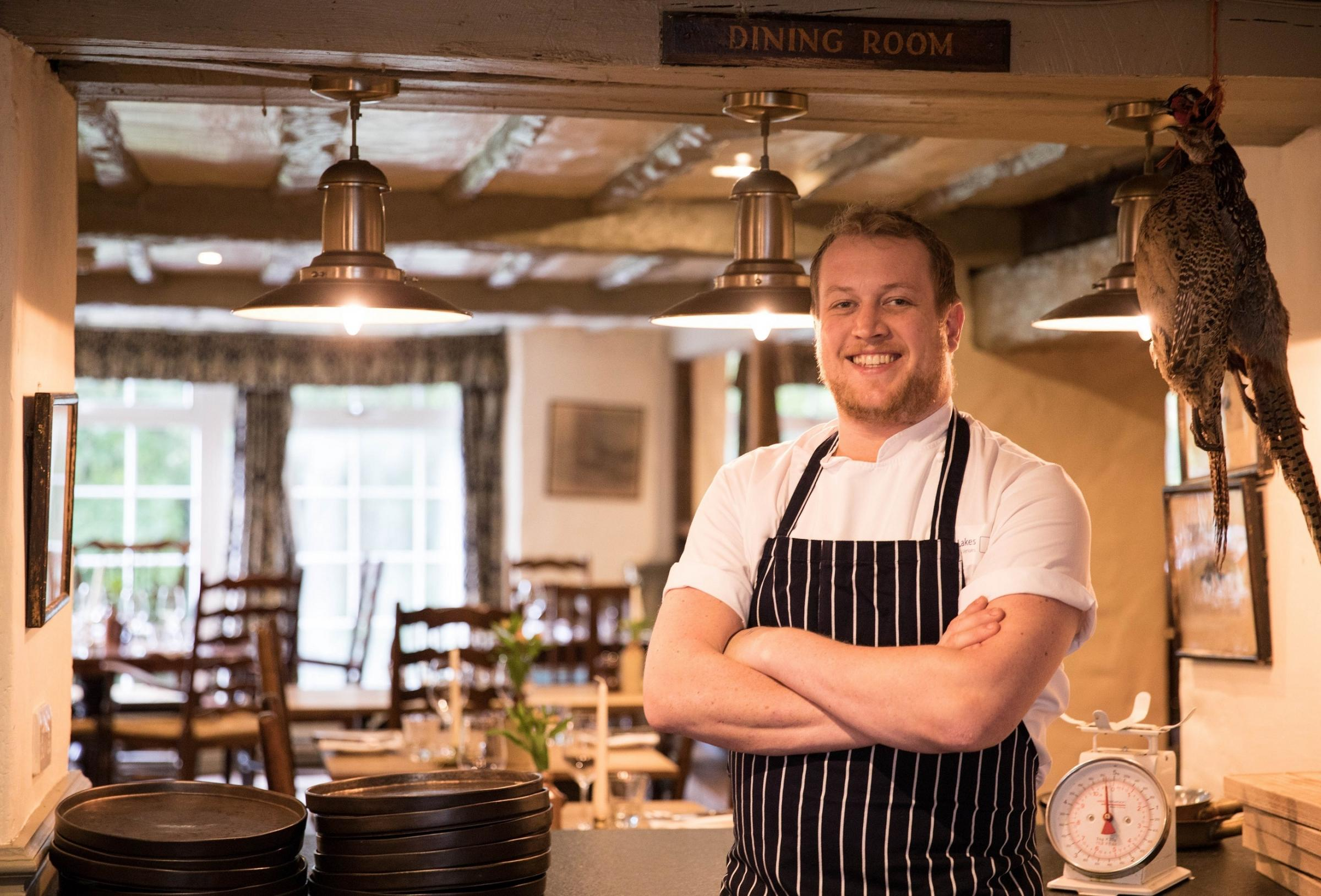 role: Gordon Stewart is the new head chef at the Wild Boar Inn near Windermere