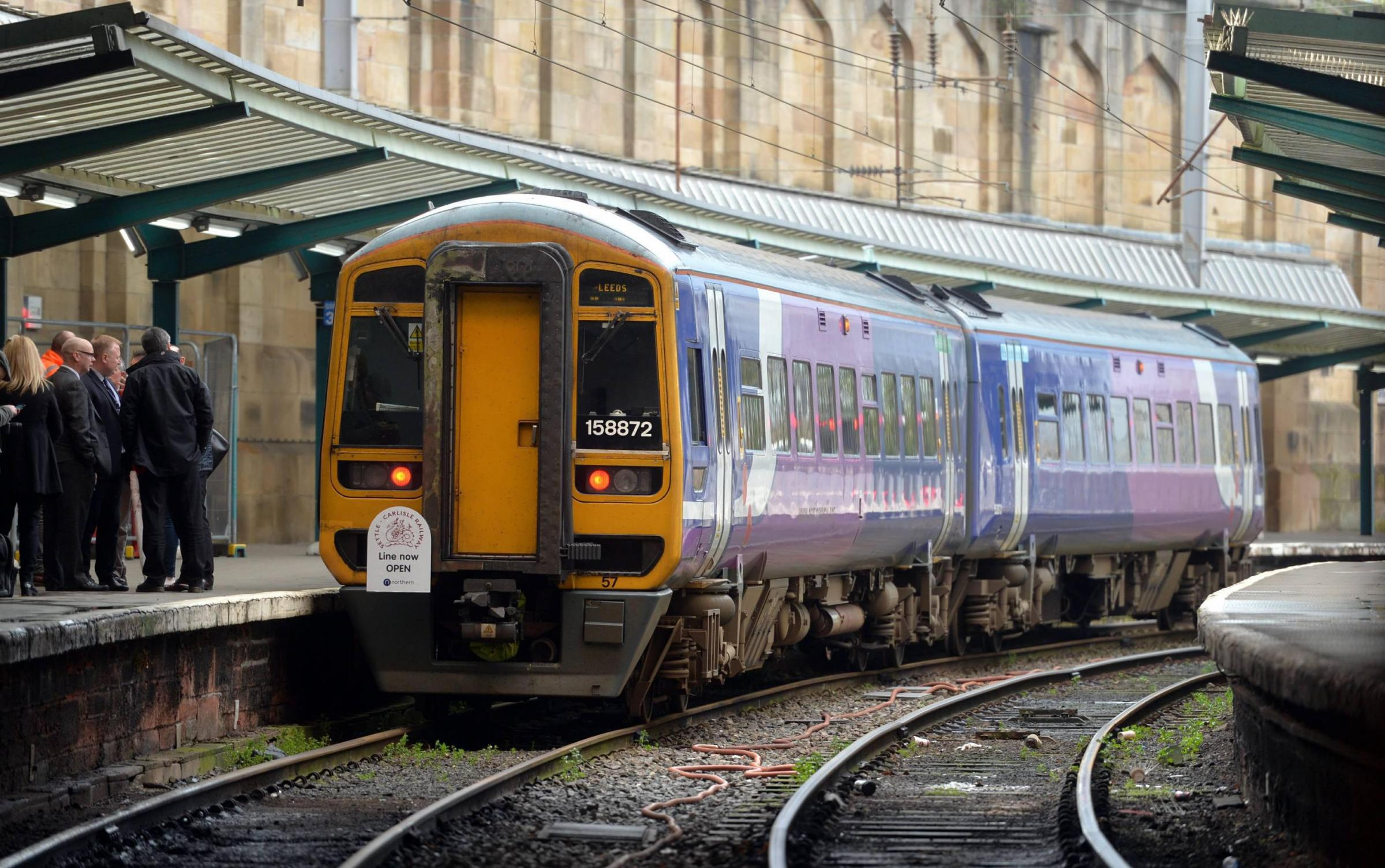 The Settle Carlisle railway line is now fully open after a major engineering project by Network Rail and Story to repair a landslip at Eden Brows near Armathwaite. The first Northern Rail train to arrive in Carlisle at 8:17 after travelling over the newly