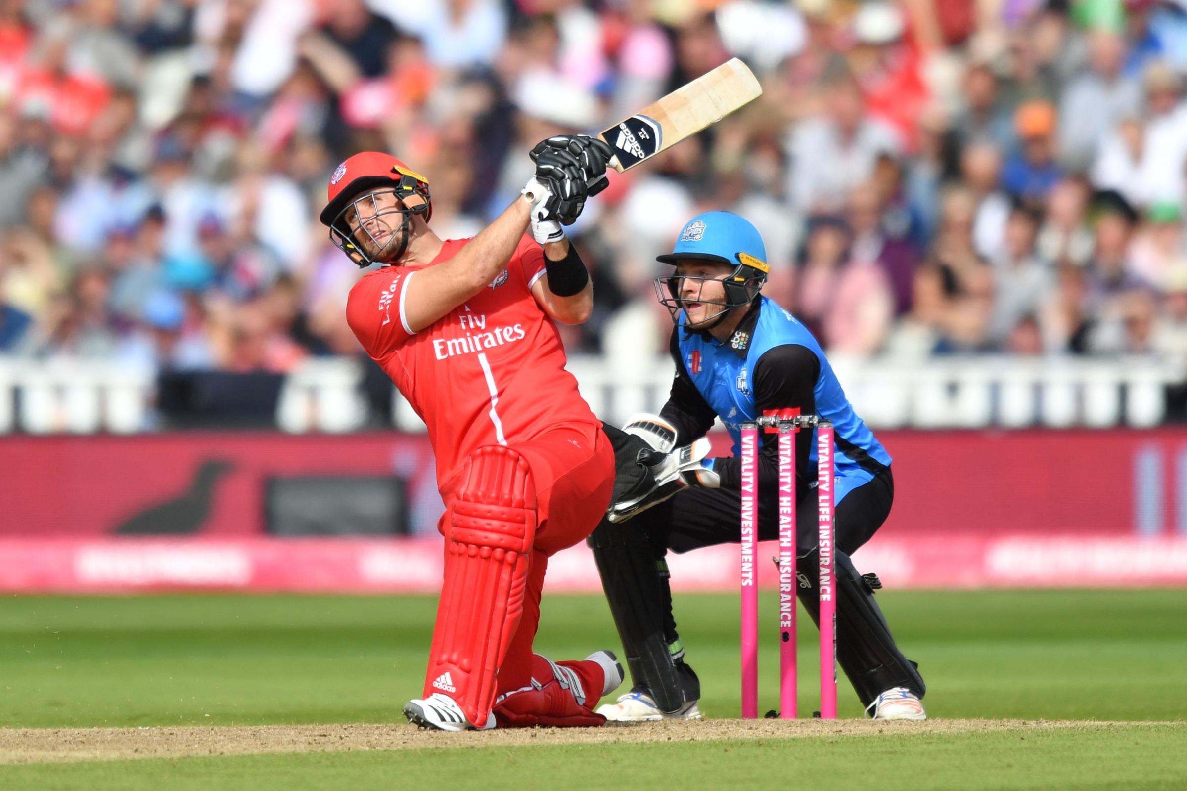 POSITIVE: Liam Livingstone in action for Lancashire on Vitality Blast finals day Picture: PA