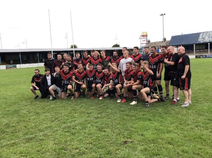 Dalton celebrate winning the 2018 Harry Warman Cup Picture: Twitter via @DragonsDalton