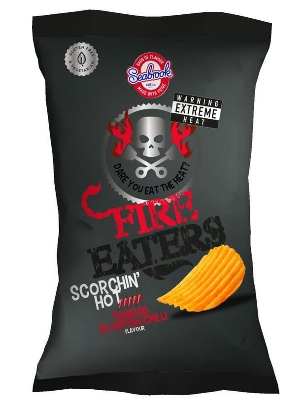 Seabrooks' 'Spiciest ever crisps. Picture: Seabrooks