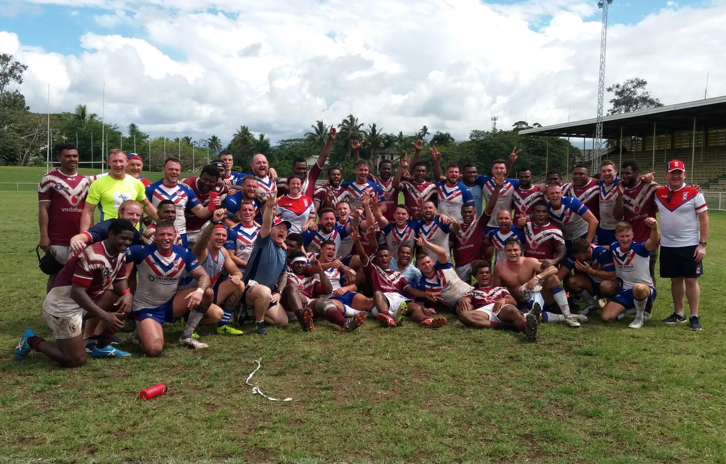 BARLA Lions and West Fiji after their match Picture: Dave Parkinson