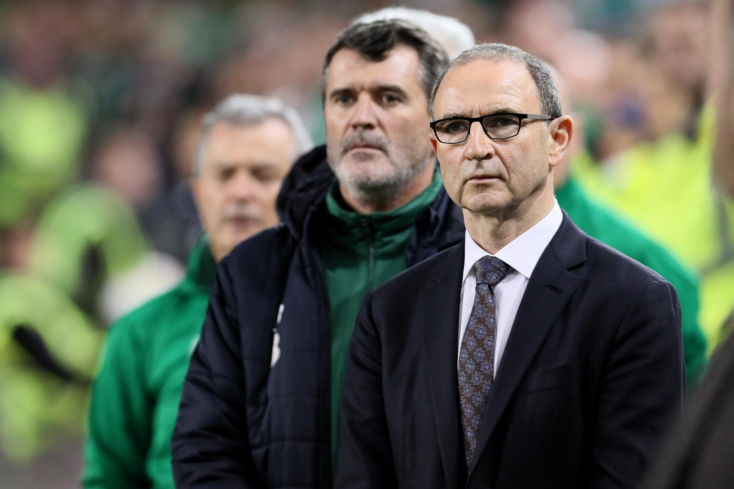 Republic of Ireland manager Martin O'Neill (right) has admitted 2018 has been disappointing